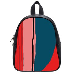 Decorative lines School Bags (Small)