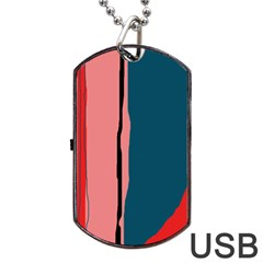 Decorative lines Dog Tag USB Flash (One Side)