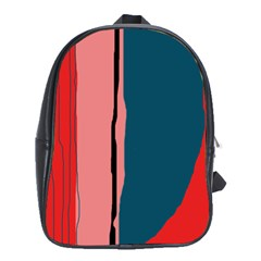 Decorative lines School Bags (XL)