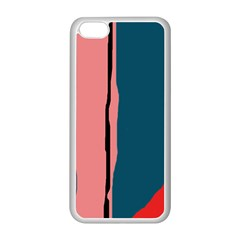 Decorative lines Apple iPhone 5C Seamless Case (White)