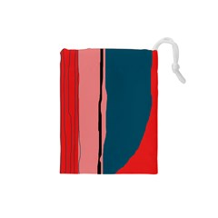 Decorative lines Drawstring Pouches (Small)