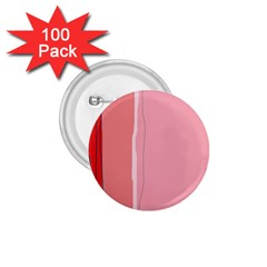 Red and pink lines 1.75  Buttons (100 pack)