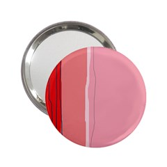 Red and pink lines 2.25  Handbag Mirrors