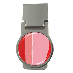 Red And Pink Lines Money Clips (round)