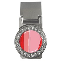 Red and pink lines Money Clips (CZ)