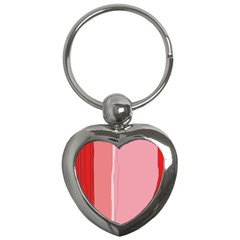 Red and pink lines Key Chains (Heart)