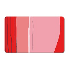 Red and pink lines Magnet (Rectangular)
