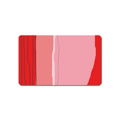 Red and pink lines Magnet (Name Card)