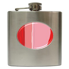 Red and pink lines Hip Flask (6 oz)