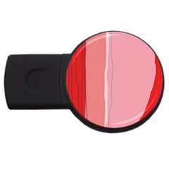 Red and pink lines USB Flash Drive Round (2 GB)