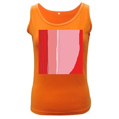 Red and pink lines Women s Dark Tank Top