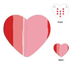 Red and pink lines Playing Cards (Heart)