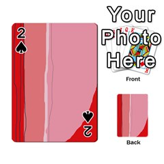 Red and pink lines Playing Cards 54 Designs