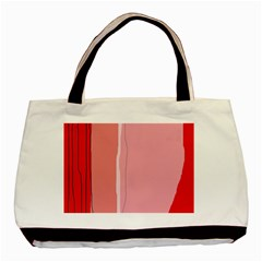 Red and pink lines Basic Tote Bag