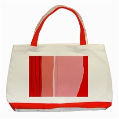 Red and pink lines Classic Tote Bag (Red)