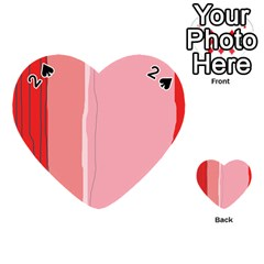 Red and pink lines Playing Cards 54 (Heart)