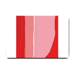 Red and pink lines Small Doormat