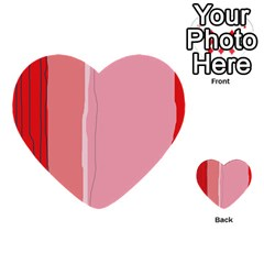 Red and pink lines Multi-purpose Cards (Heart)