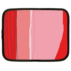 Red and pink lines Netbook Case (Large)