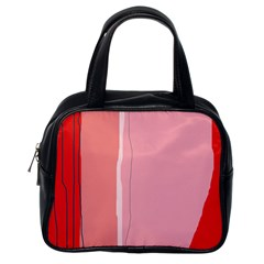 Red and pink lines Classic Handbags (One Side)