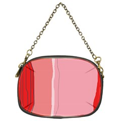 Red and pink lines Chain Purses (One Side)