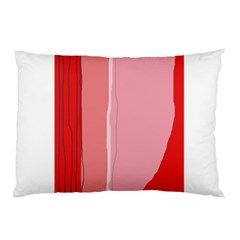 Red and pink lines Pillow Case
