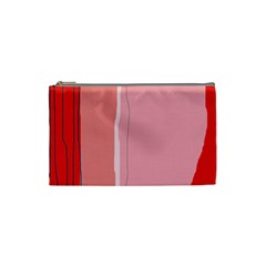 Red and pink lines Cosmetic Bag (Small)