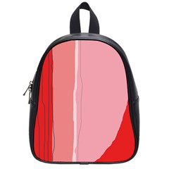 Red and pink lines School Bags (Small)