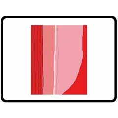 Red and pink lines Fleece Blanket (Large)
