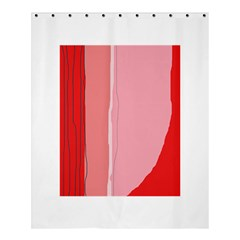 Red and pink lines Shower Curtain 60  x 72  (Medium)