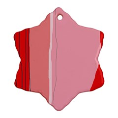 Red and pink lines Ornament (Snowflake)