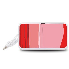 Red and pink lines Portable Speaker (White)