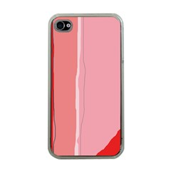 Red and pink lines Apple iPhone 4 Case (Clear)