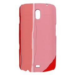 Red and pink lines Samsung Galaxy Nexus i9250 Hardshell Case