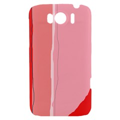 Red and pink lines HTC Sensation XL Hardshell Case