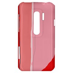 Red and pink lines HTC Evo 3D Hardshell Case