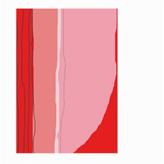 Red and pink lines Large Garden Flag (Two Sides)