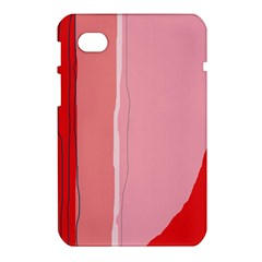 Red and pink lines Samsung Galaxy Tab 7  P1000 Hardshell Case