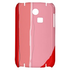 Red and pink lines Samsung S3350 Hardshell Case