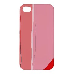 Red and pink lines Apple iPhone 4/4S Premium Hardshell Case