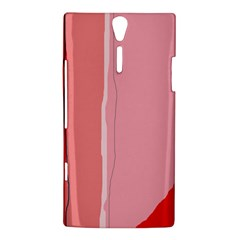 Red and pink lines Sony Xperia S