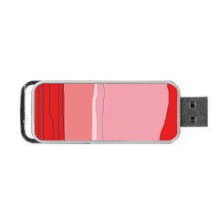 Red and pink lines Portable USB Flash (Two Sides)