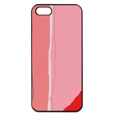 Red and pink lines Apple iPhone 5 Seamless Case (Black)