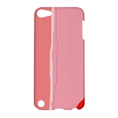 Red and pink lines Apple iPod Touch 5 Hardshell Case