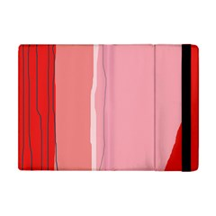 Red and pink lines Apple iPad Mini Flip Case
