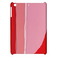 Red and pink lines Apple iPad Mini Hardshell Case