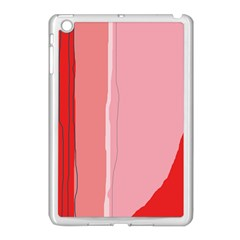 Red and pink lines Apple iPad Mini Case (White)