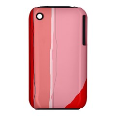 Red and pink lines Apple iPhone 3G/3GS Hardshell Case (PC+Silicone)