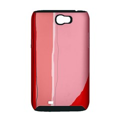 Red and pink lines Samsung Galaxy Note 2 Hardshell Case (PC+Silicone)
