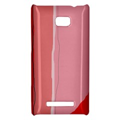 Red and pink lines HTC 8X